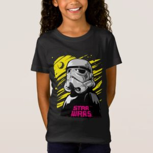 Stormtrooper Neon Death Star Sketch T-Shirt