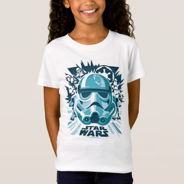 Stormtrooper Paper Cut-Out Collage T-Shirt