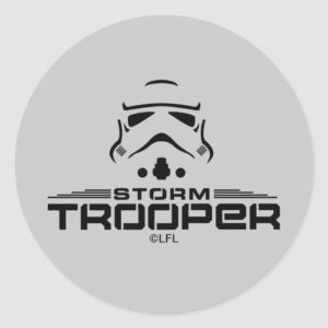 Stormtrooper Simplified Graphic Classic Round Sticker