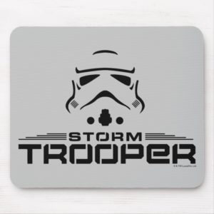 Stormtrooper Simplified Graphic Mouse Pad