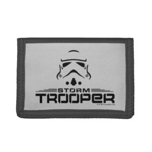 Stormtrooper Simplified Graphic Trifold Wallet