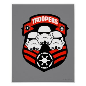 Stormtroopers Imperial Badge Poster