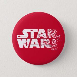 White Star Wars Logo Button