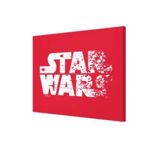 White Star Wars Logo Canvas Print