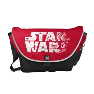 White Star Wars Logo Courier Bag