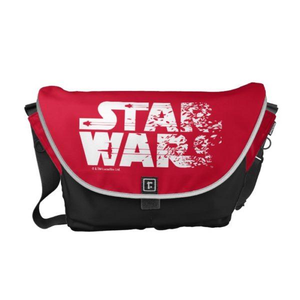 White Star Wars Logo Courier Bag