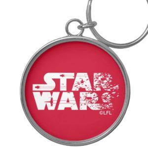 White Star Wars Logo Keychain