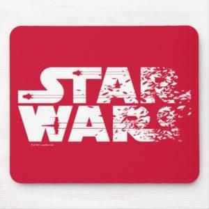 White Star Wars Logo Mouse Pad