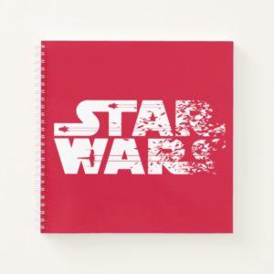 White Star Wars Logo Notebook