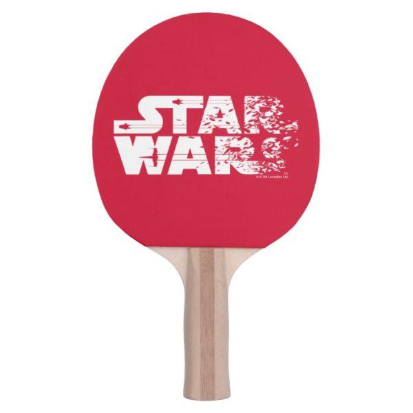 White Star Wars Logo Ping Pong Paddle