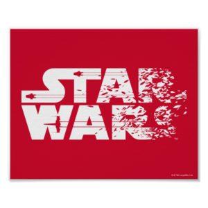 White Star Wars Logo Poster