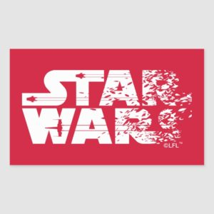White Star Wars Logo Rectangular Sticker