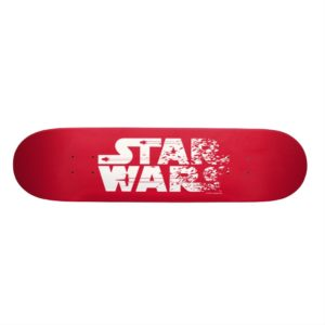 White Star Wars Logo Skateboard