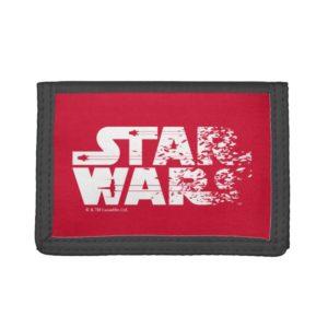 White Star Wars Logo Trifold Wallet