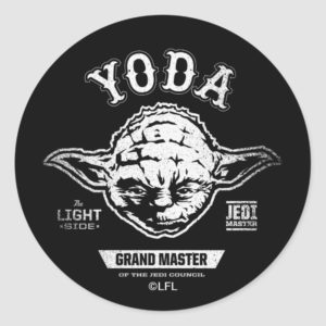 Yoda Grand Master Emblem Classic Round Sticker