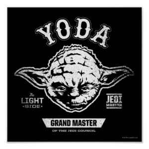 Yoda Grand Master Emblem Poster