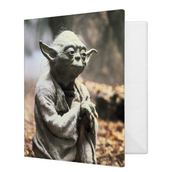 Yoda On Dagobah 3 Ring Binder