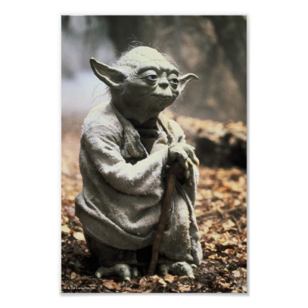 Yoda On Dagobah Poster
