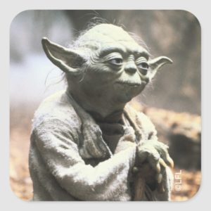 Yoda On Dagobah Square Sticker